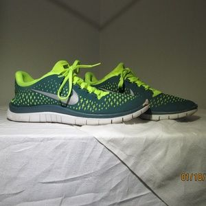 Nike Free 3.0 Green And Blue Men's Size 10.5  Nike